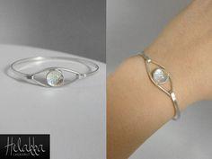 Rannekoru 925-hopeasta ja lasista