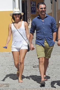 Because she's happy! Eva Longoria enjoyed a day off in Marbella on Sunday with her media boss boyfriend Jose Antonio Baston before attending a black tie event later that night