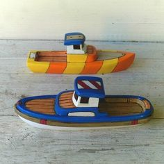 Trophy and Bosun  Wooden Toy Boats