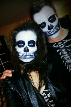 My skeleton couple makeup!!! So much fun ♥