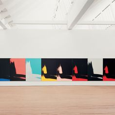 The images Warhol chose were pulled from photographs taken in the dark corners of his legendary New York studio The Factory. In using these abstract forms, Shadows avoids Warhol's equally well-known penchant for using pop culture imagery, icons and commodities in his paintings...