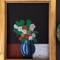 un lundi ordinaire - Dessin Original Nature Morte Le Bouquet de fleurs {pastel à l'huile}