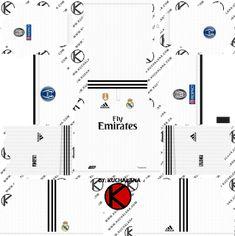 d95a4b2c75d Real Madrid 2018 19 UCL Kit - Dream League Soccer Kits Soccer Kits