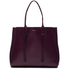 Lanvin Large Shopper Tote ($1,785) ❤ liked on Polyvore featuring bags, handbags, tote bags, fringe handbags, fringe tote bag, purple tote, hand bags and fringe tote