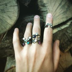 We'd like to wear all of these rings at once. #etsyjewelry