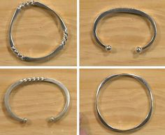 Richard Sweetman fast forged silver cuffs and bangle bracelets - from Easy Hammer Forging and Metalsmithing: Twisting, Tapering, and Moving Metal with Richard Sweetman - Jewelry Making Daily