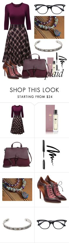 """""""sooo official..."""" by mariannemerceria ❤ liked on Polyvore featuring WithChic, Raw Spirit, Rebecca Minkoff, Bobbi Brown Cosmetics, Malone Souliers, Alex and Ani, Ray-Ban and plaid"""