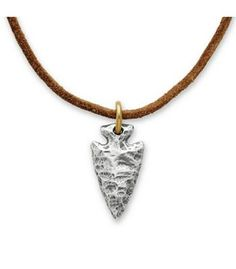 Arrowhead Pendant on Rust Leather Cord | James Avery