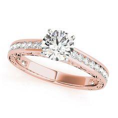 Transcendent Brilliance 14k White, Rose Or Yellow Gold 1 1/4ct TDW White Diamond Vintage Style Engagement Ring (F-G, VS1-VS2) (Rose - Size 7.75), Women's