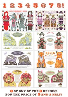 Any 8 Tea Towel / Cloth Kit Designs for the price by sarahyoung5