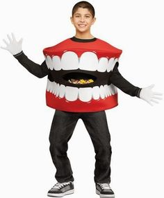 Dentaltown - Do you think the dentist who hands out toothbrushes for Halloween is doing a trick or a treat?  Happy Halloween! Here's a teeth-y costume idea! :) You can even put candy in it!  #HappyHalloween