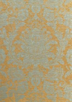 MUMFORD, Aqua on Metallic Gold, T7661, Collection Damask Resource 3 from Thibaut