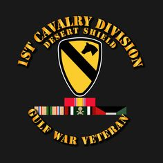 Check out this awesome '1st+Cavalry+Division+-+Desert+Shield+w+Svc' design on @TeePublic!