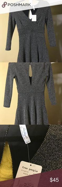 NWT Size XS Free People Sweater Dress Never Worn- great thick/stretchy sweater like material. No picks or damage. Made very well to fit the upper body and waist showing sliming lines and skirt that flows beautifully down the hip. Length from top to bottom is 34 inches. I am 5'9 and it hits two inches above my knees Free People Dresses Mini