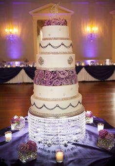 My Purple Blingin wedding cake I designed!