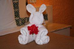 Valentines day towel animal - hospitality