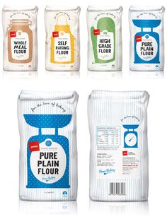 Pams Flour Packaging Illustrations - Design by Brother Design, Illustration by Angela Keoghan