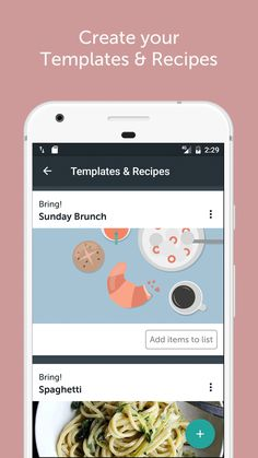 Create your shopping list templates and import your favorite recipes withe the Import Button. List Template, Templates, Recipe T, App, Sunday Brunch, Create Yourself, Bring It On, How To Plan, Clever