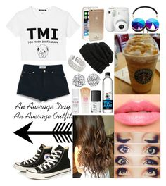 """""""--"""" by cookiesforliam ❤ liked on Polyvore featuring Black Score, Leith, NARS Cosmetics, Laura Mercier, Frends, Kate Spade, Converse, Maybelline, Polaroid and John Lewis"""