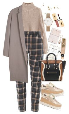 """Untitled #1981"" by mihai-theodora ❤ liked on Polyvore featuring CÉLINE, Ted Baker, STELLA McCARTNEY, Moschino, Organic by John Patrick, Daniel Wellington and Yves Saint Laurent"