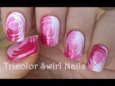 TOOTHPICK NAIL ART #2 / Easy Tricolor SWIRL NAILS Tutorial - YouTube