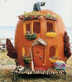 Pumpkin house pumpkin carving