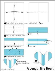 Origami Line Heart