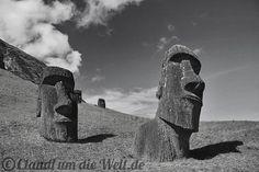 Moai Statues on Rapanui Island