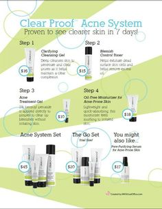Clearproof acne system. Ashlee brown, Independent Beauty Consultant, Mary kay https://www.marykay.com/ashleebrown