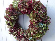 Check out this item in my Etsy shop https://www.etsy.com/listing/561304913/hydrangea-wreath-shabby-chic-wall-decor