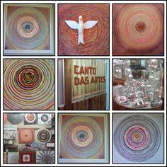 arte sobre tela, peças exclusivas e técnica própria.