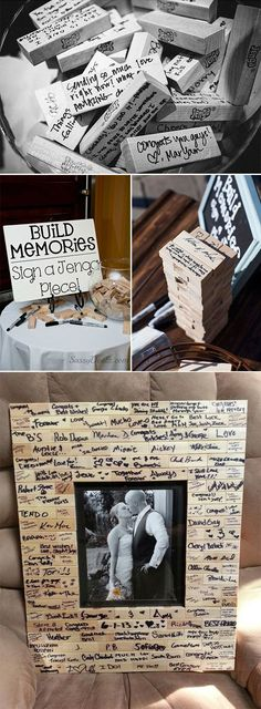 fun Jenga wedding guest book ideas