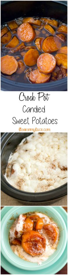 Free up some of that precious oven space on Thanksgiving Day and make this Crock Pot Candied Sweet Potatoes recipe for Thanksgiving Dinner via flouronmyface.com