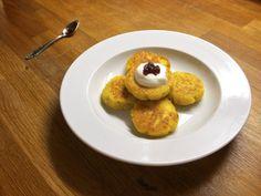 Dozdobené ochuteným tvarohom a džemom Ale, Pancakes, Muffin, Breakfast, Food, Morning Coffee, Pancake, Ales, Muffins