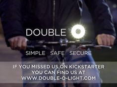 Double O - A simple, safe, secure bike light's video poster