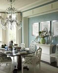 Gary McBournie designed this Palm Beach dining room