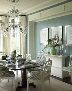 Gary McBournie designed this Palm Beach dining room
