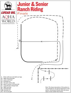 Junior & senior ranch riding finals pattern from the 2015 Lucas Oil AQHA World Championship Show