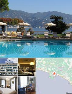 L'hôtel est situé sur la superbe Riviera italienne, dans le golfe de Tigullio, à seulement 1,5 km du centre de Santa Margherita Ligure à ne manquer sous aucun prétexte. Il se trouve également à 5 km des Cinque Terre, la plus belle partie du littoral de la Riviera italienne, ainsi que de la ville célèbre qu'est Portofino, avec sa nature restée sauvage.Compter 30 km (soit 40 min de trajet) pour rejoindre l'aéroport de Gênes.