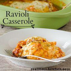 Ravioli Casserole  - only 5 ingredients | realmomkitchen.com