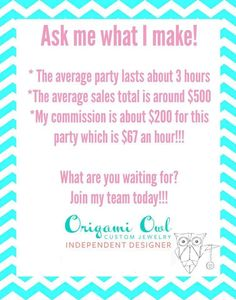 ask me how to join my team:  Louisiana.origamiowl.com louisiana.owl@gmail.com