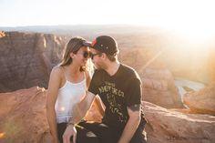 Couple Horseshoes bend #couple #horseshoesbend #horseshoes #grandcanyon #page #sunset Grand Canyon, Horseshoes, Sunset, Love, Couple Photos, Couples, The Cardinals, Photography, Amor