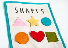 :: shapes quiet book page ...