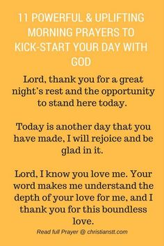11 Powerful and Uplifting Morning Prayers to Kick-…Edit description