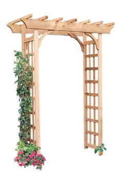 Shop Garden Architecture W x H Natural Pergola Style Garden Arbor at… Garden Archway, Garden Arbor, Garden Trellis, Garden Gates, Cedar Garden, Arbor Gate, Wood Arbor, Garden Edging, Backyard Pergola