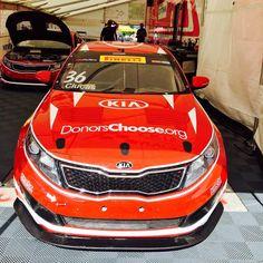 Defending champion Kia Racing looking to repeat victory this weekend! Kia Motors, Kia Optima, Victorious, Repeat, Champion, Racing, Bmw, America, Nice