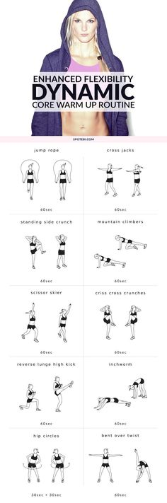 Maximize your performance and enhance your flexibility at home with this dynamic core warm up routine. Add this 10 minute circuit at the beginning of your core workouts to prepare your midsection for (Fitness Routine For Teens) Workouts For Teens, At Home Workouts, Core Workouts, Workout Routines, Fitness Workouts, Fitness Motivation, Fitness Tips, Health Fitness, Exercise Motivation