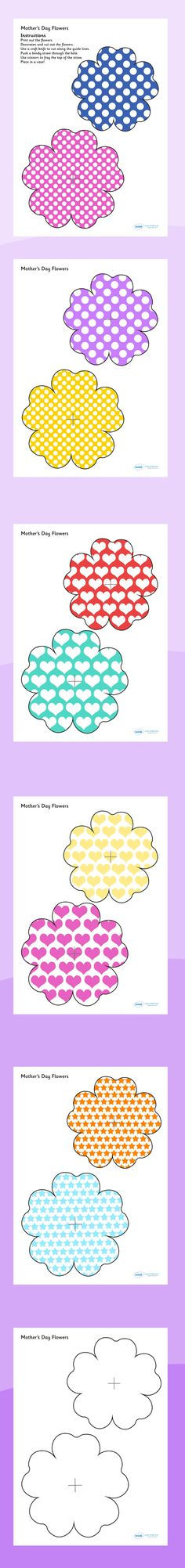 Twinkl Resources >> Mother's Day Flowers >> Thousands of printable primary teaching resources for EYFS, KS1, KS2 and beyond! Crafts, Mother's Day, Paper Crafts, Gifts