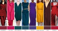 Jewel Tones: Sapphire Blue, Emerald Green, Ruby Red, Golden Yellow, plus Ivory. Colourful Outfits, Colorful Fashion, Love Fashion, Fashion Trends, Classic Fashion, Fashion Ideas, Jewel Tones Clothes, Paleta Deep Winter, Color Trends