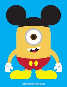 heroes Combining two characters that I love: Mickey Mouse and the Despicable Me Minions.Combining two characters that I love: Mickey Mouse and the Despicable Me Minions. Mickey Mouse, Disney Mickey, Disney Pixar, Disney Bound, Minion Rock, Minions Love, Disney Love, Disney Magic, Disney Stuff